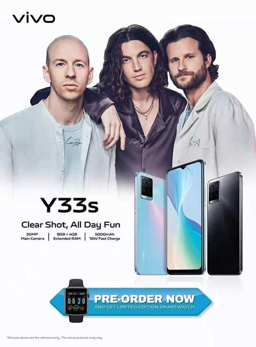 Vivo Y33s preorder details with Super LANY in poster via Revu Philippines