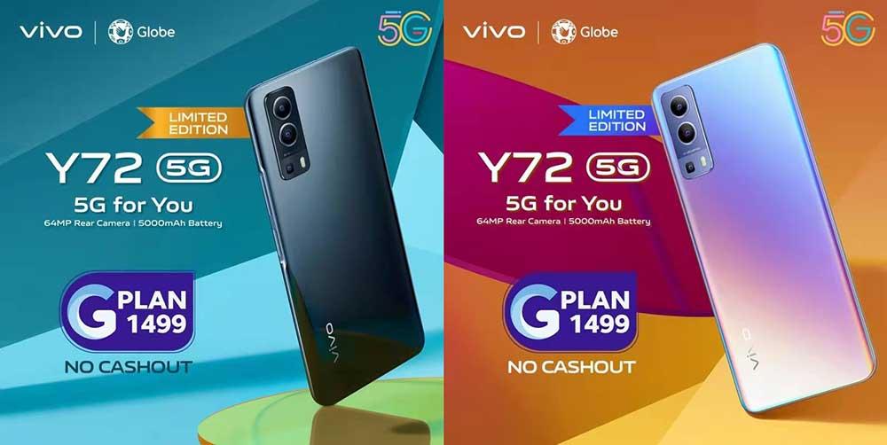 Vivo Y72 5G Globe postpaid details via Revu Philippines